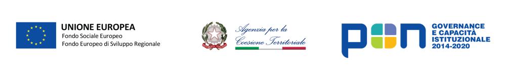 Logo Unione Europea Fondo Sociale Europeo Fondo Europeo di Sviluppo Regionale, Logo Agenzia per la coesione Territoriale, Logo Regione Molise, Logo Governance e Capacità istituzionale 2014-2020