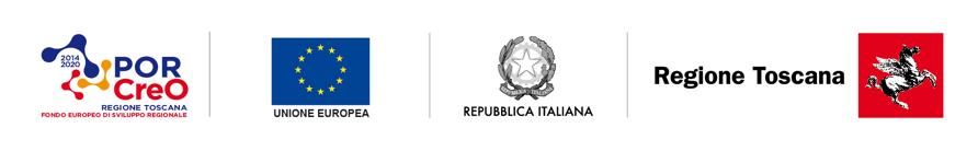 Logo PORCreO Regione Toscana Fondo Europeo Sviluppo Regionale, Unione Europea, Repubblica Italiana e Regione Toscana